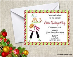 Christmas Cookie Party Invite.Christmas Party Invitation Cookie Exchange